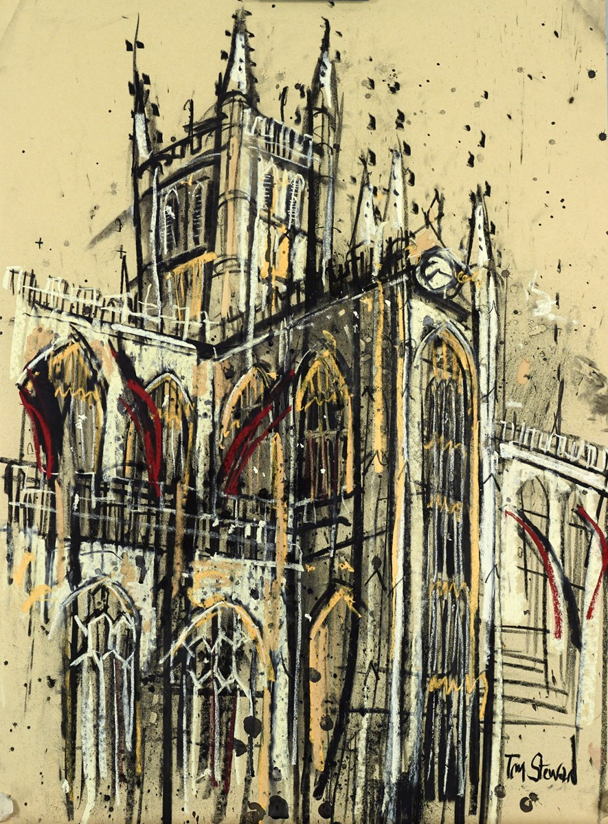 Bath Abbey III by tim steward -  sized 20x28 inches. Available from Whitewall Galleries